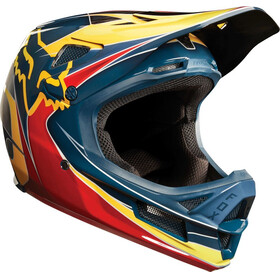Fox Rampage Pro Carbon Kustom Helmet Men red/yellow